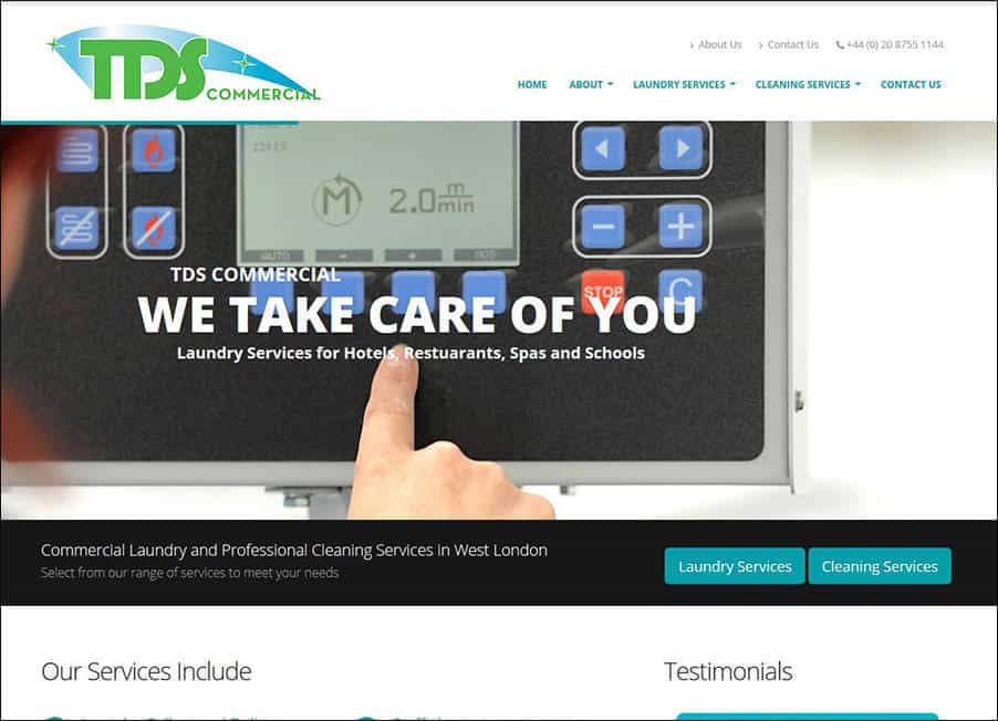 TDS Commercial website designed and developed by Corporates Online