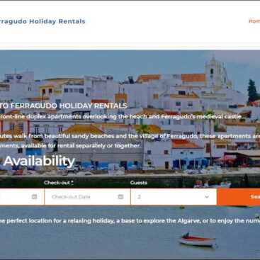 Ferragudo Holiday Rentals website designed and developed by Corporates Online