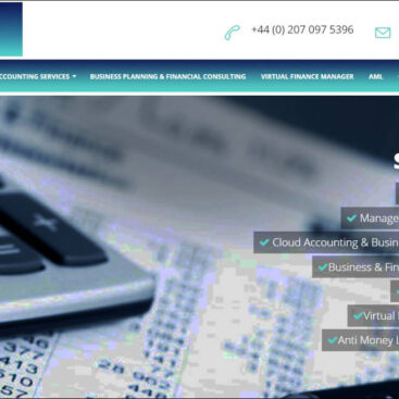Sirius Financials website designed and developed by Corporates Online
