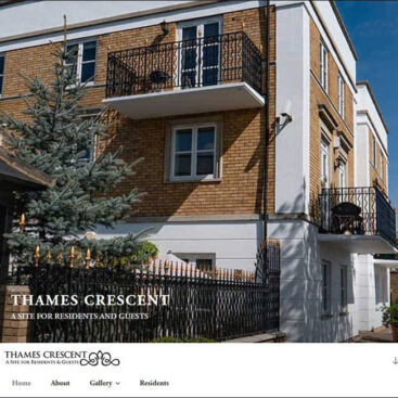 Thames Crescent website designed and developed by Corporates Online