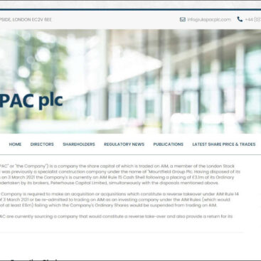 UK SPAC plc website desinged and developed by Corporates Online
